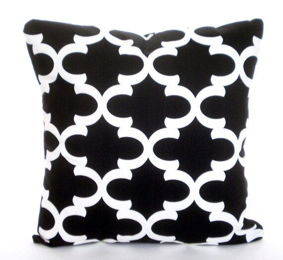 Black White Pillow Cover Decorative Throw Pillows Cushions Etsy New Etsy Decorative Throw Pillows