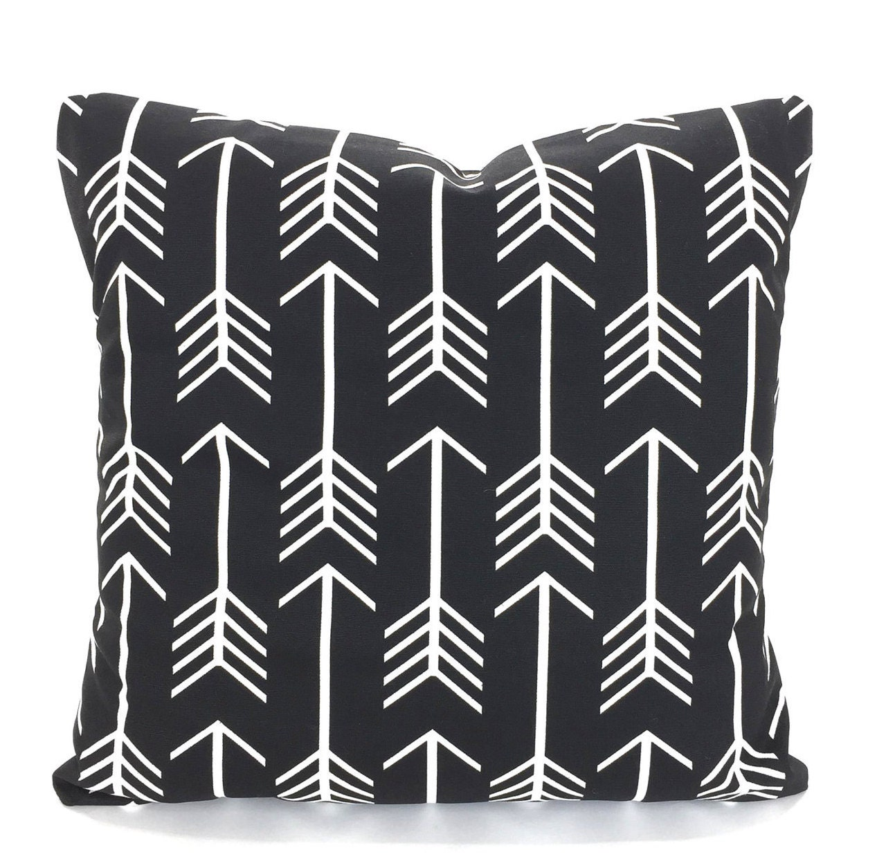 Black White Pillow Cover Decorative Throw Pillows Cushions Black And White Arrow Euro Sham Couch Bed Sofa One Or More All Sizes