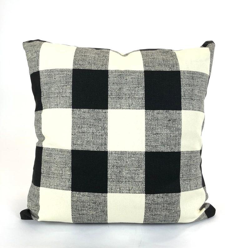 Black And Cream Decorative Pillows  from i.etsystatic.com