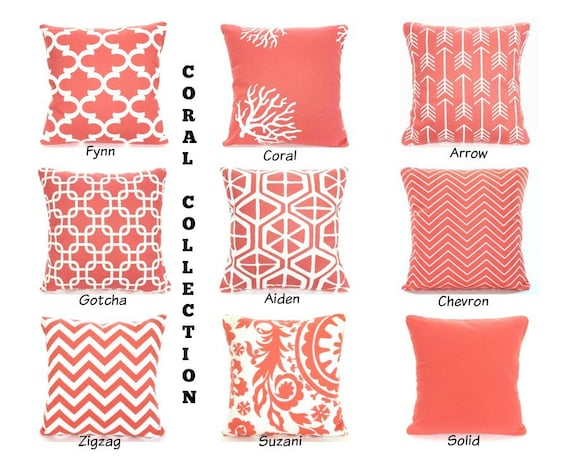 Coral Pillow Cover Coral Throw Pillow