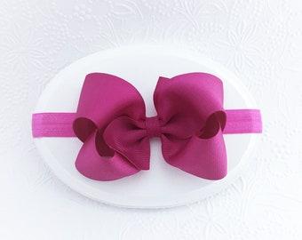 Fuchsia 4\u201d hair bow
