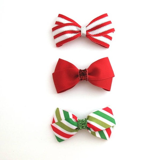 Christmas Hair Bows For Toddlers.Christmas Hair Bows Set Baby Toddler Girls Christmas Hair Clips Glitter Hair Bows