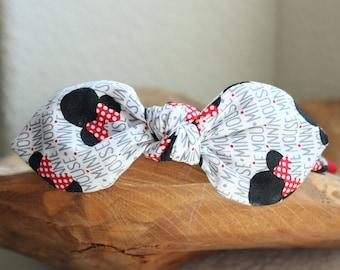 Minnie Headband, Bow Headband, Headband with Wire, Womens Headband, Disney Headband, Disneyland Headband, Adult Headband