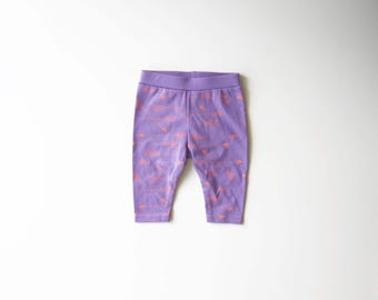 SALE | 50% OFF | Size 0-3 Months | Lavender | Organic Baby Leggings | Screen Printed Clothing | Baby Pants | Organic Clothes | Baby Girl