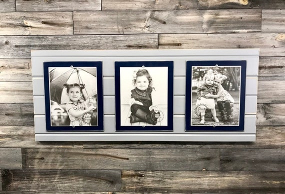 Distressed Wood Picture Frame Triple Collage Frame 8x10 Etsy