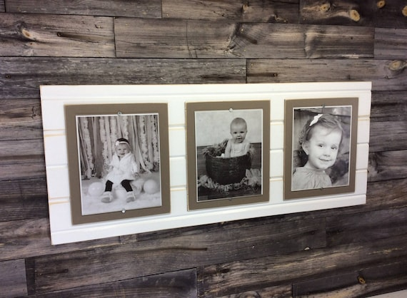 Distressed Wood Picture Frame Triple Frame Collage Frame Etsy