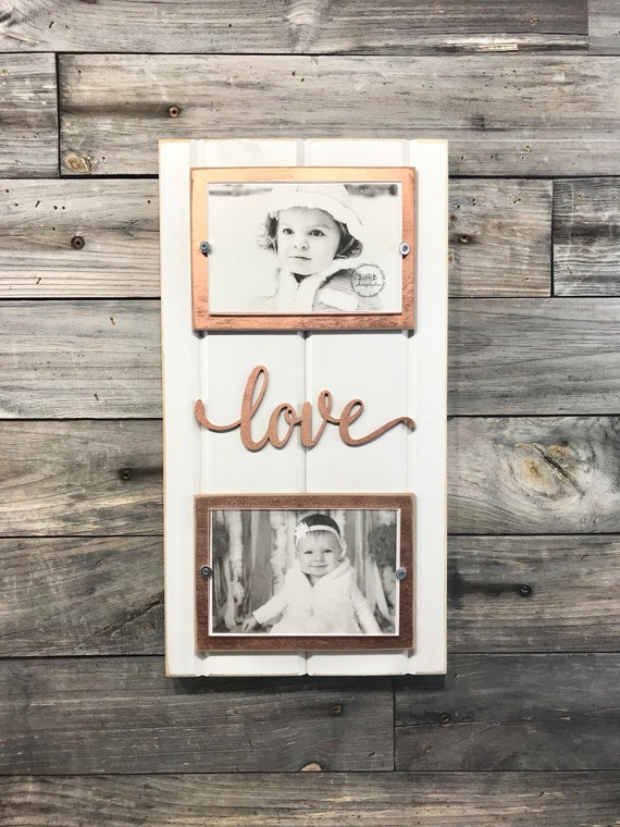 Love Distressed Picture Frame Holds 2 4x6 Photos White And Etsy