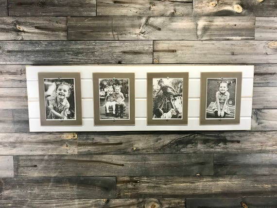 Distressed Wood Picture Quadruple 5x7 Collage Frame Etsy