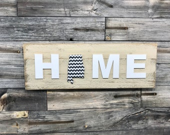 Alabama chevron HOME plaque CUSTOMIZABLE