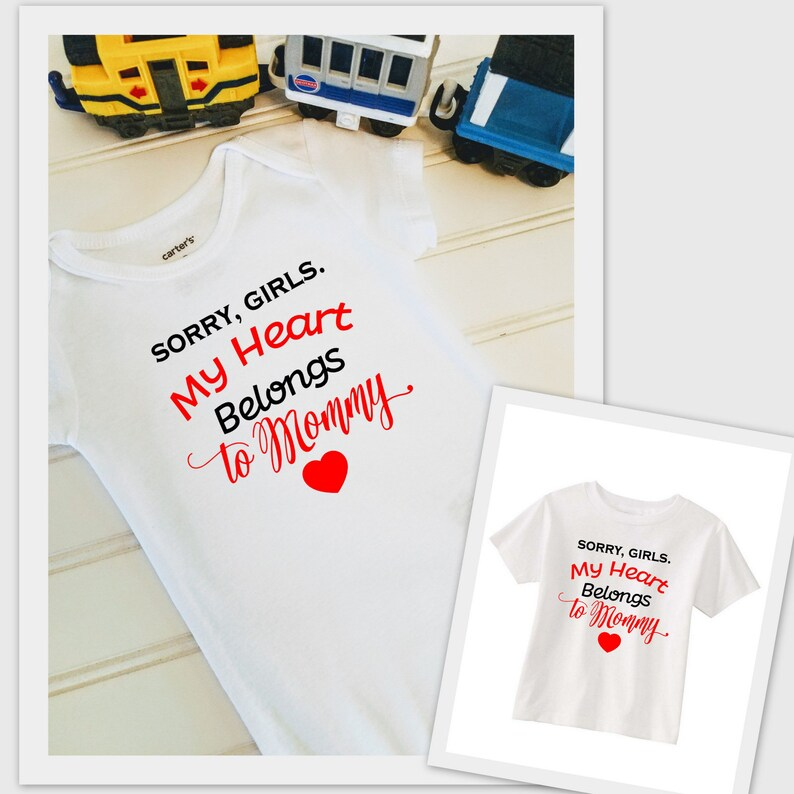 e7d63adb My Heart Belongs to Mommy Infant Bodysuit or Toddler tshirt | Etsy