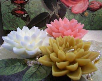 Lotus Candle Etsy