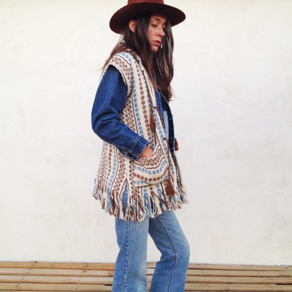 Vintage 70 s Deadstock Mexican Vest   Hand Woven Mexican  63d0e2cee4