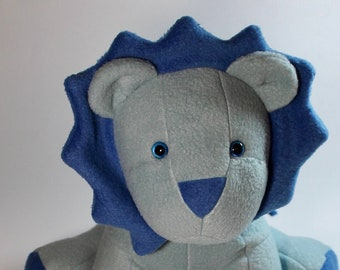 Little Boy Blue Stuffed Lion