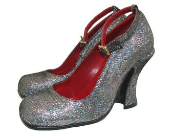d03456a71ee8 Vintage Luichiny Shoes Spirit of the 20s Sparkle Ankle Strap Baby Doll  Womens US size 7