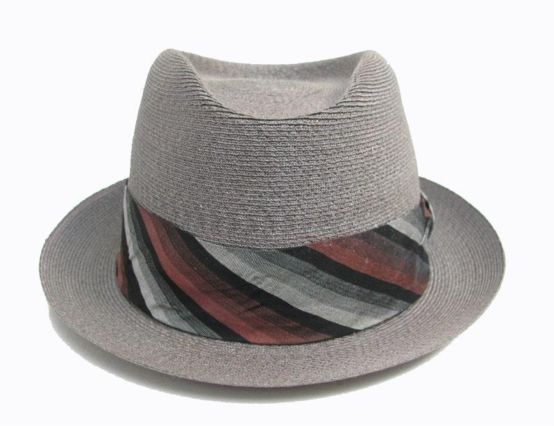 70331d001705c Vintage Mens Suave and Debonair Summer Straw Fedora Hat 1960s