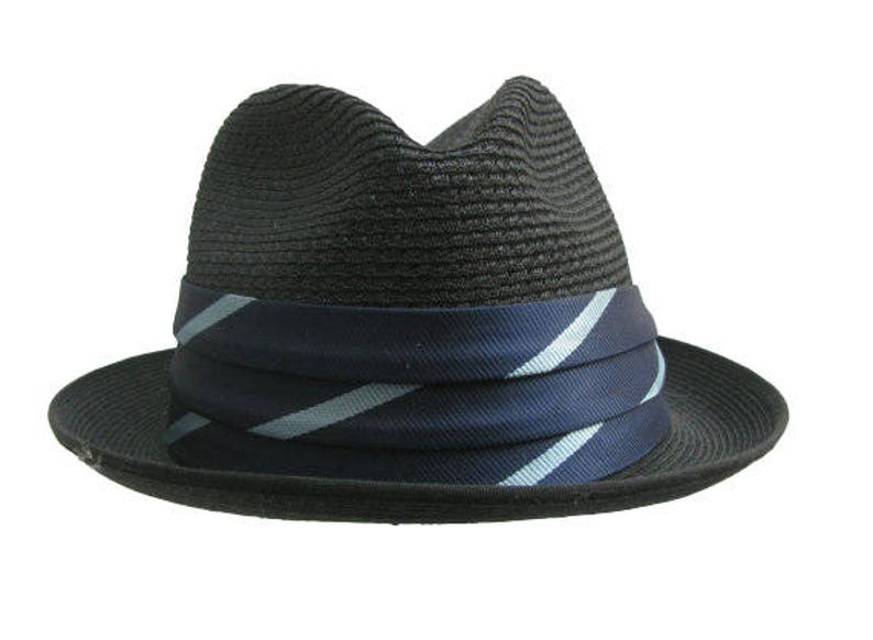 9553900a3485e Vintage Mens Straw Hat 1960s Resistol Black Summer Straw