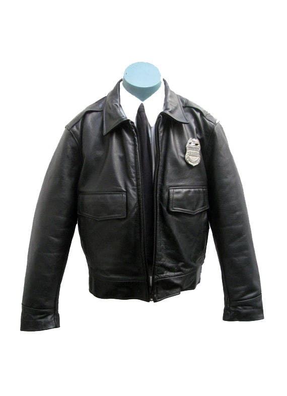 Angeles Homme Los Cuir En Police Veste Taylors Pour Etsy 0Rnpg