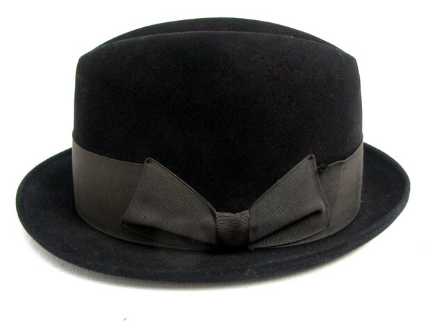 3dfaed72044 Vintage Mens Resistal Hat Black 1960s Mod Rude Boy Fedora Mns