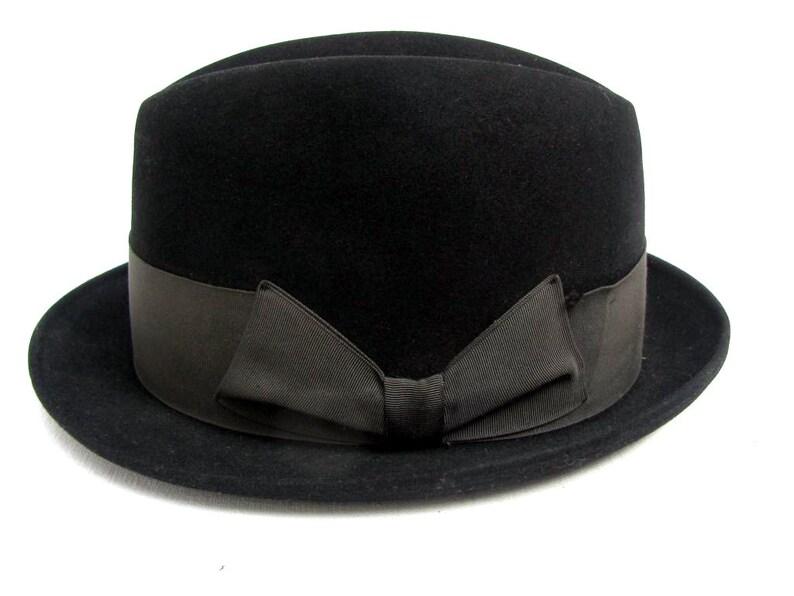 4c0b79043355a Vintage Mens Resistal Hat Black 1960s Mod Rude Boy Fedora Mns