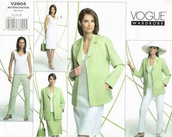 Pick Your Size - Vogue Separates Pattern V2804 - Misses' Jacket, Dress, Top, Skirt & Pants - Vogue Wardrobe Pattern - Easy To Sew - Uncut
