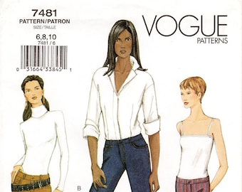 7d62fa005ef Pick Your Size - Vogue Pants Pattern 7481 - Misses  Close-Fitting