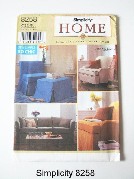 Remarkable Simplicity Home Pattern 8258 Sofa Chair And Ottoman Covers Ncnpc Chair Design For Home Ncnpcorg