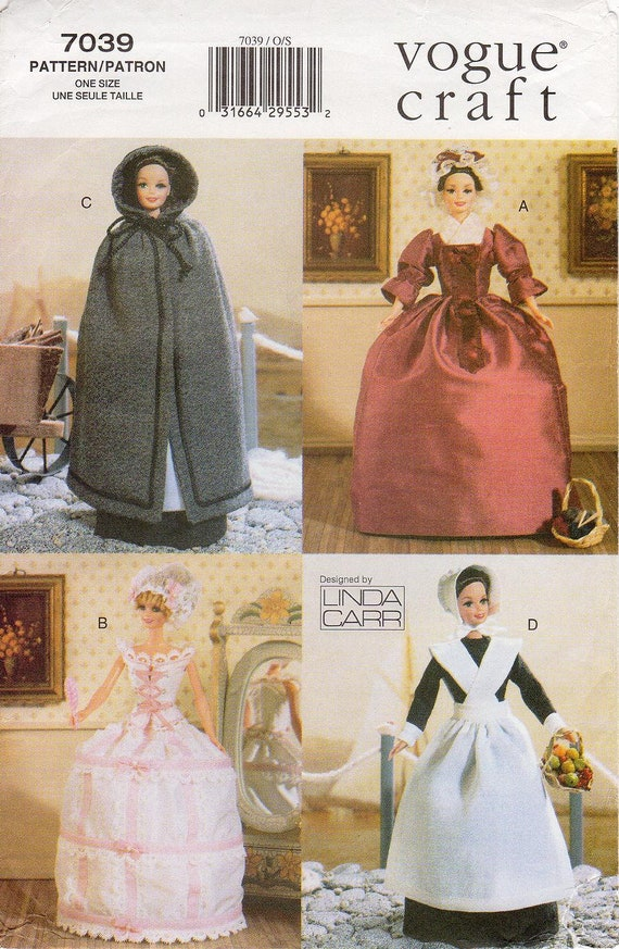 Vogue 9372 1990s Linda Carr  American Indian 18 Inch Doll Clothes Pattern 4 Outfits Sewing Pattern UNCUT