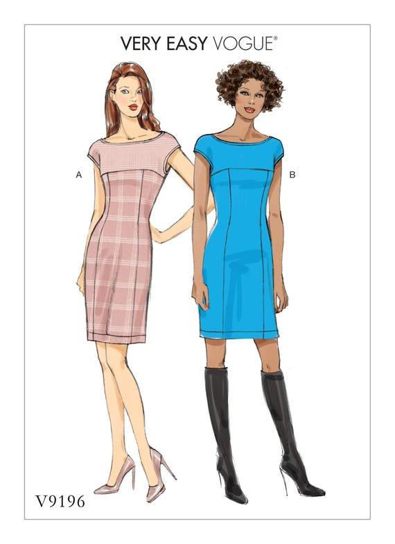 Vogue Dress Pattern V40 Misses' Princess Seam Dress Etsy Delectable Princess Seam Dress Pattern