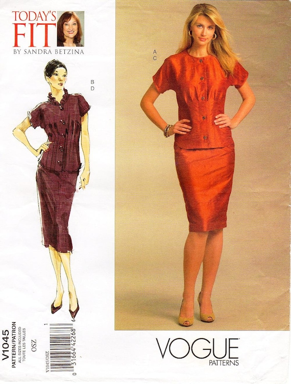 VOGUE V1045 skirt /& top  ALL SIZE  UNCUT PATTERN Today/'s Fit by Sandra Betzina