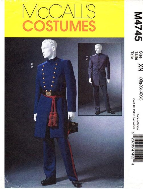 Amerikanischer Bürgerkrieg Historisches Kostüme McCalls Schnittmuster M4745
