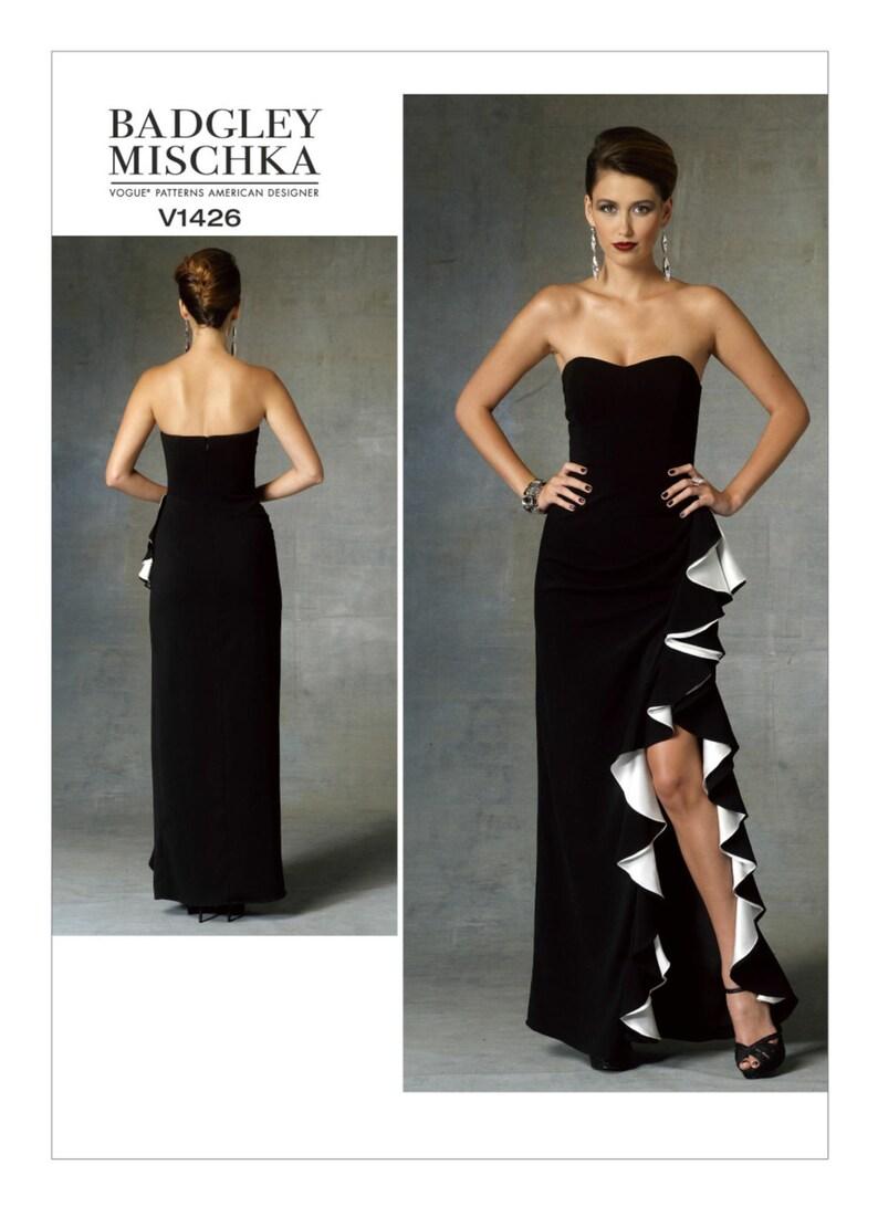 34db4096769 Sz 6 8 10 12 14 Vogue Dress Pattern V1426 by BADGLEY MISCHKA