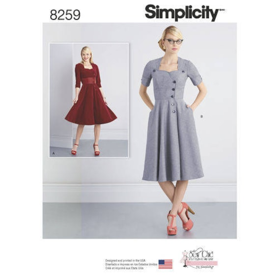Sz 4040404040 Simplicity Pattern D4040259 Misses' Etsy Beauteous Simplicty Patterns