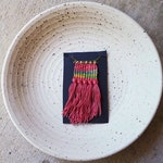 LANDSCAPES // Micro Mini Weaving Woven Fiber Necklace
