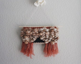 015 // Sienna Sand // Neutral Woven Weaving Wool Wall Hanging