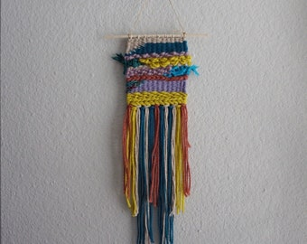 005 // The Little Things // Mini Small Colorful Wall Weaving Woven Tapestry