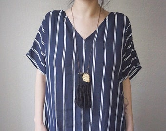 ECLIPSE // Mini Weaving Woven Fiber Necklace