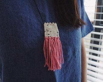 Mini Micro Weaving Woven Fiber Necklace