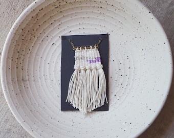 LANDSCAPES // Micro Mini Weaving Woven Fiber Necklace