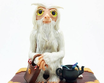 DEMIGUISE Dougal book drawer trinket / jewelry box - Custom Made to Order - Fantastic Beasts inspired polymer clay potter sculpture