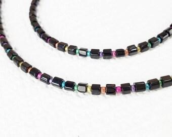 Glasses Chain, Black Bead Glasses Chain, Black Glasses Chain, Beaded Eyeglass Chain, Eye Glasses Strap, Lanyard for Glasses
