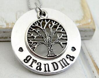 Grandmothers Necklace, Personalized Grandma Necklace, Gift for Nana, Personalized Jewelry, Grandma Gift, Family Tree Necklace, Gift for Mom