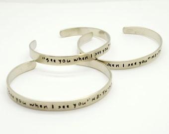 Personalized Silver Cuff Bracelets Set,  Bridesmaid Gift , Bangle, Bridesmaid Jewelry, Custom, Hidden Message, Wedding