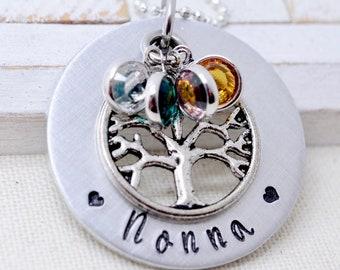 Birthstone Family Tree Necklace For Grandma, Grandmother Necklace, Gift For Grandma, Necklace For Grandma, Grandma Necklace, Gift for Nana