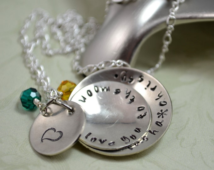 Mommy Handstamped Necklace, Mother's Day Jewelry, Grandmother Necklace, Children Names, Hand Stamped