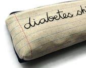 Diabetes Sh*t Bag - Mature - Large Size - Popular Blood Testing Tool Travel Case