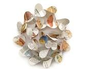 Sea Shells Paper Heart Garland