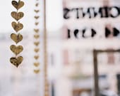 Vintage Sheet Music Paper Heart Garland - READY TO SHIP - Valentine's Day Gift or Decoration