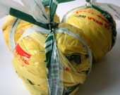Yellow Plarn Ball-Plastic Yarn-Great for Crochet Projects-About 56 Yards
