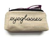 Eyeglasses Case Zipper Pouch