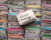 Taco Money Bag - Wholesale - Case Pack of 10 - Zipper Pouch